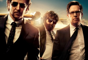 The Hangover Part 3, Hangover Part 3, Hangover Part III, Bradley Cooper, Zach Galifianakis, Ed Helms, Phil, Alan, Stu, Warner Bros, Pictures, Men, Man, Crazy, Backround, Comedy, Black, Sunglasses, Hammer