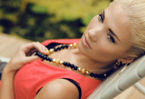 Berit Birkeland, girl, model, look, eyes, blonde