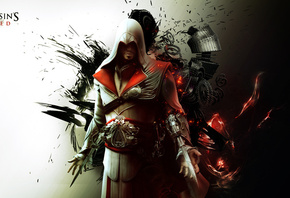 fon, ezio auditore da firenze, убийца, abstract, Assassins creed brotherhood, ассасин