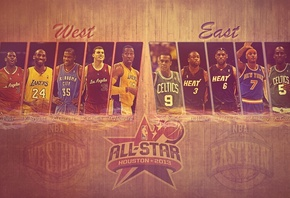 chris paul, west, Nba, east, kevin durant, blake griffin, kobe bryant, баскетбол, all star