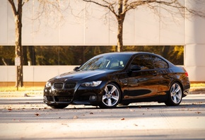 black, bmw, cars, bmw e92, 335i, city, Auto, auto wallper, сars photography, bmw 335i