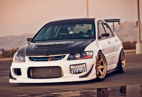 9, sportcar, mitsubishi lancer, evolution, Car, обоя, автомобиль, tuning, wallpapers