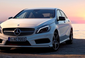 new, mercedes, wallpapers, 2012, white, Car, package, автомобиль, a200, sport, amg