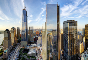 New York, New York City, Manhattan, WTC, 1 World Trade Center, NYC, USA, Нь ...