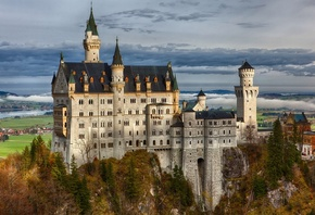 Neuschwanstein Castle, Bavaria, Germany, Замок Нойшванштайн, Бавария, Герма ...