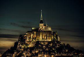 нормандия, castle, normandy, франция, island, mont saint-michel, France