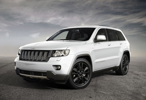 new, Jeep, grand cherokee, white, джип, 2013, небо, асфальт