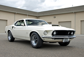 мустанг, 429, mustang, 1969, white, форд, boss, Ford, босс, muscle car