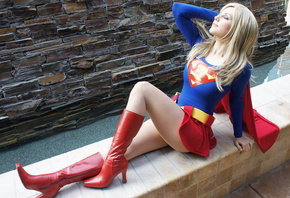 supergirl, sexy, blonde