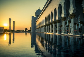 город, Grand mosque, abu dhabi