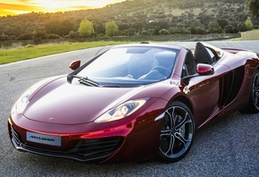 Car, Wallpapers, Red, McLaren, MP4-12C, Spyder, 2012, New, Beautiful, Autom ...