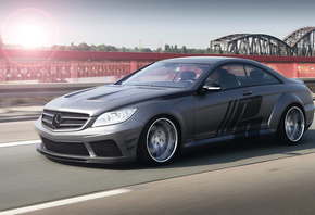 bridge, wide body, cl, motion, road, black edition, Mercedes, tuning