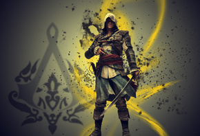 эдвард кенуэй, edvard kenway, Assassins creed 4 black flag, assassin