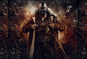 Batman, knight, rises, dark, bane