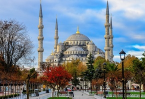 Blue mosque, голубая мечеть, sultan ahmed mosque, istanbul, turkey
