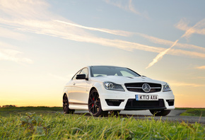 Mercedes-Benz, C63, AMG, Edition, 507, white, front