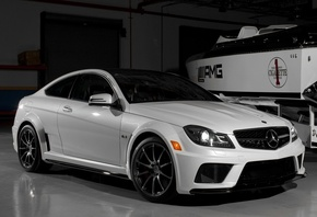 series, and, amg, benz, wallpapers, white, black, black, Auto, tuning, mercedes, car, garage