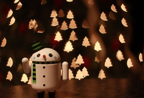 Merry Christmas, Wallpapers, Android, snowman