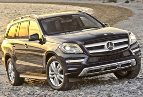 Mercedes-Benz, GL, 450, Мерседес, ГЛ, джип, передок, берег, вода, фон