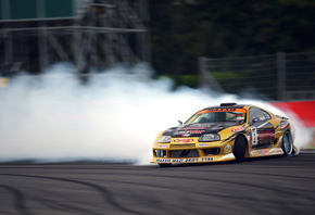 supra, sportcar, smoke, Toyota, competition, drift, tuning
