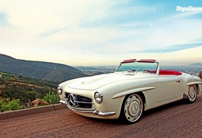 white, wallpapers, 1920x1080, benz, beautiful, Car, retro, top gear, merced ...