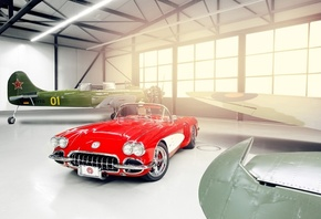 custom, с1, corvette, by pogea racing, корвет, c1, шевроле, Chevrolet, 1959
