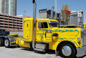peterbilt, 351, custom, big rig, truck