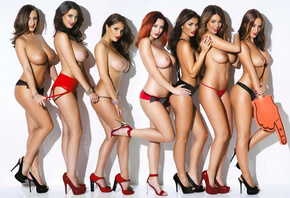 Holly Peers, India Reynolds, Joey Fisher, Lucy Collett, Lucy Pinder, Rosie  ...