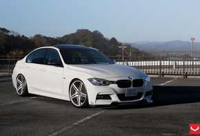 vossen, vossen wheels, 3 series, tuning, f30, bmw, car, white
