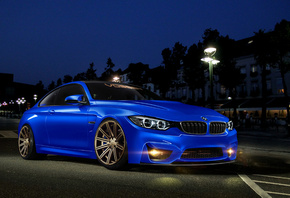 BMW, 4 Series, M4, blue, front