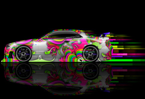 Tony Kokhan, Nissan, Skyline, GTR, R34, Side, Abstract, Aerography, Black, Background, Multicolors, Aerography, JDM, Style, Photoshop, el Tony Cars, HD Wallpapers, Тони Кохан, Фотошоп, Стиль, Аэрография, Ниссан, Скайлайн, ГТР, Р34, 34 Кузов, Аэрография, Р