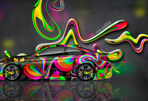 Tony Kokhan, BMW, M4, Side, Super, Plastic, Car, Aerography, Multicolors, N ...