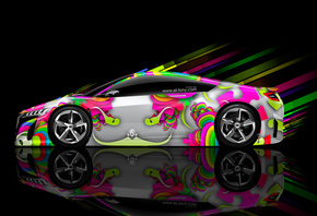Tony Kokhan, Honda, NSX, Abstract, Aerography, Car, eQ, Multicolors, HD Wal ...