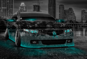 Tony Kokhan, Acura, TSX, Crystal, Car, Azure, Neon, Honda, Accord, City, Ni ...