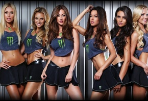 girls, brunette, bike, road, beauty, monster