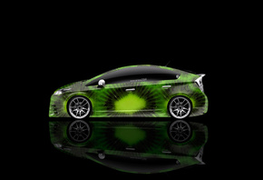 Tony Kokhan, Toyota, Prius, Hybrid, Kiwi, Fruit, Green, Aerography, HD Wall ...