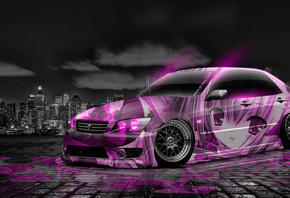 Tony Kokhan, Toyota, Altezza, JDM, Tuning, Anime, Aerography, Car, City, Night, Pink, Neon, Colors, Girl, Japan, Design, Art, Style, el Tony Cars, Photoshop, HD Wallpapers, Тони Кохан, Фотошоп, Тойота, Альтеза, Алтеза, Алтезза, Альтезза, Тюнинг, Анимэ, Ан