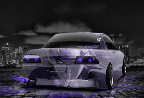 Tony Kokhan, Nissan, Skyline, GTR, R32, JDM, Anime, Aerography, Violet, Neon, Car, Night, City, Japan, Design, Art, Style, HD Wallpapers, el Tony Cars, Tuning, Тони Кохан, Фотошоп, Ниссан, Скайлайн, ГТР, Р32, 32 Кузов, Анимэ, Аниме, Аэрография, Фиолетовый