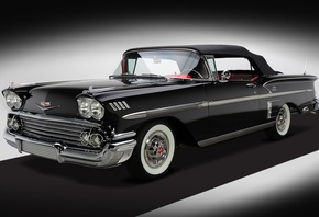 Chevrolet, Bel Air, Impala, 348, Super Turbo-Thrust, Tri-Power, Convertible ...