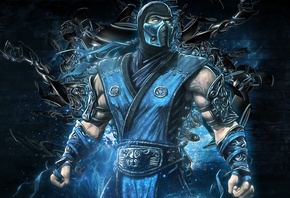 mortal kombat, sub zero, backgrounds, video game