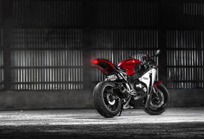 Honda, CBR, 1000RR, rear, red, мотоцикл