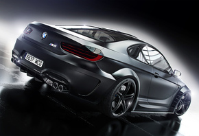 BMW, M6, Prior Design, Black, Car, Wheels, Rear