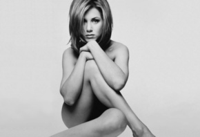 Jennifer Aniston, Friends, Rachel, nude, naked, black and white, Jennifer, Aniston, topless