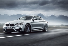 BMW, M4, Coupe, F82, front, silvery, Ciprian Mihai, движение