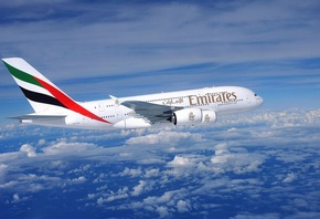 emirates, airlines, plane, fly, sky