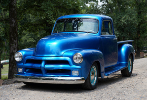 1954, Chevy, Truck, Blue