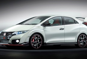 белый, 2015, Honda, Civic, Type, R, хот-хэтч