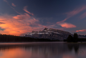Two Jack Lake, Banff National Park.природа, озеро, рассвет