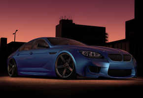 BMW M6 Gran Coupe, virtual tuning, бмв, автообои, car, тюнинг