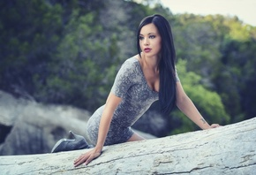 Woman, Beautiful, Big, Rocks, Park, Boulder, Brandi, Digital, Fashion, Female, Girl, Glen, Rose, Gorgeous, Model, North America, Portrait, Pose, Pretty, Sky